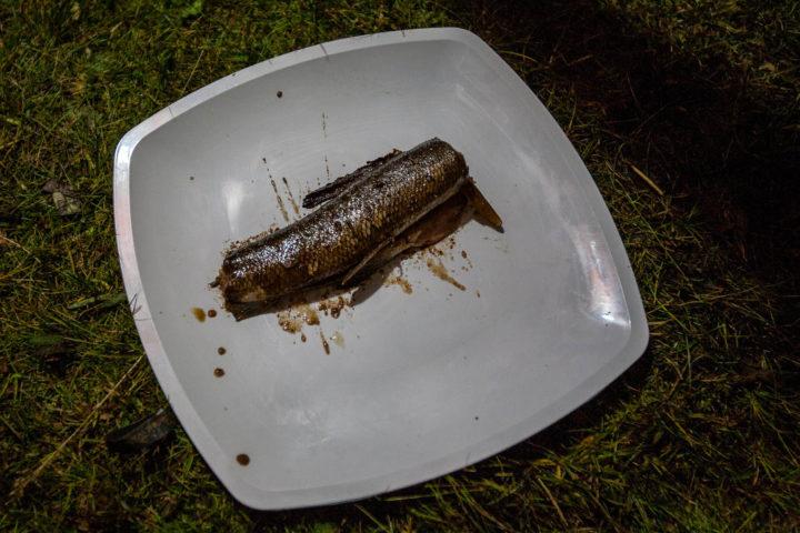 3. Сашими из хариуса под соевым соусом