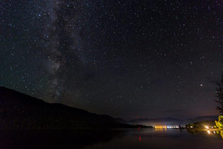 Ночь на Телецком озере