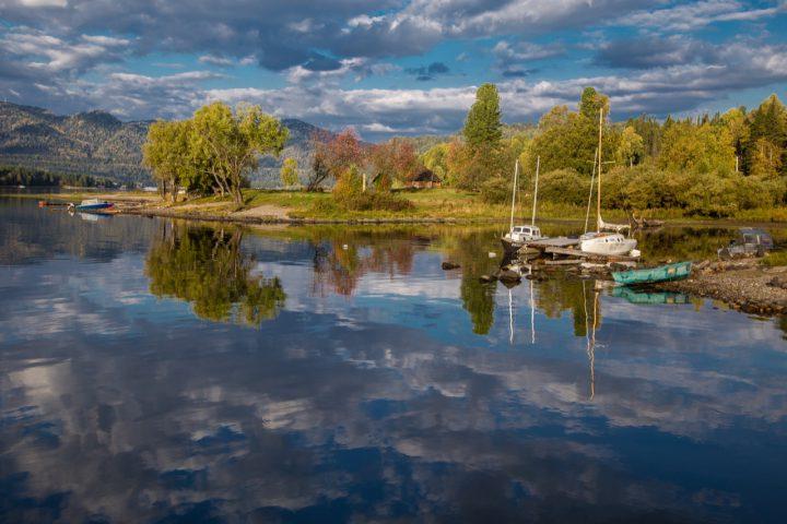 Телецкое озеро днем
