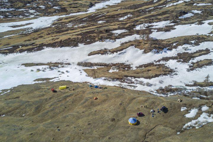 Лагерь в долине Ак-Кол