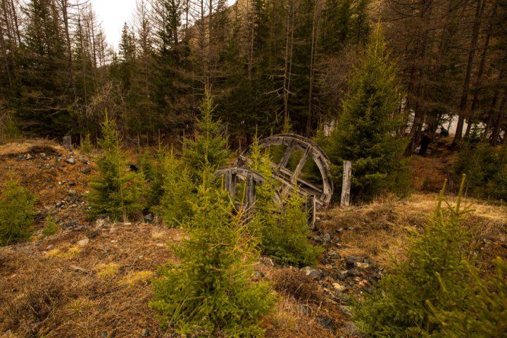 Старое мельничное колесо в долине Чуи