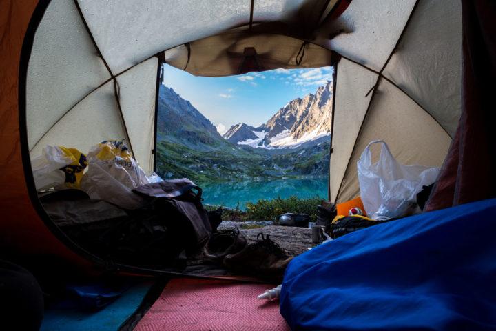 А так бывает когда мы ночуем в палатках