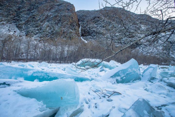 3. Ледяные торосы Чулышмана
