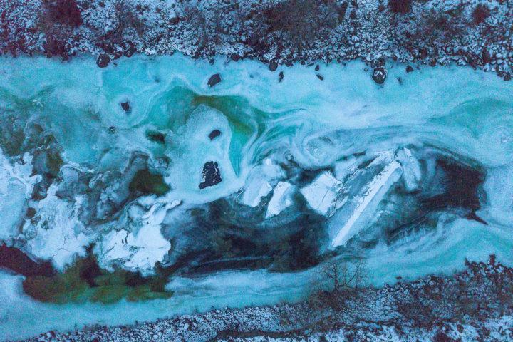 4. Лед Чулышмана сверху