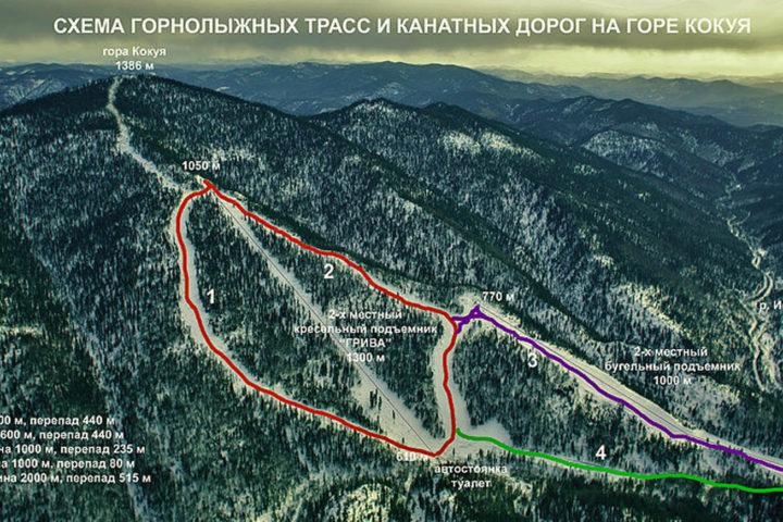 4. Схема трасс горы Кокуя