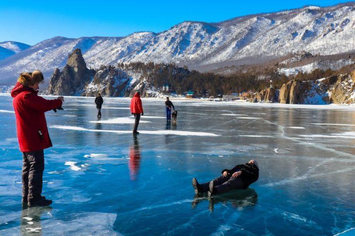 1. Первый выход на лед Байкала