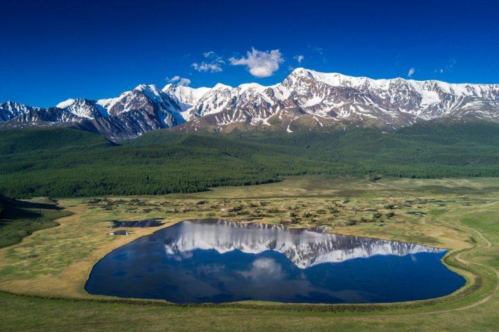 1. Озеро Джангысколь вид сверху